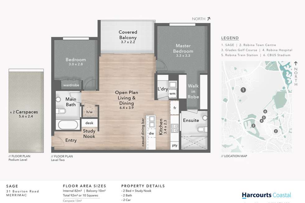 Floorplan of Homely unit listing, 5302/31 Bourton Road, Merrimac QLD 4226