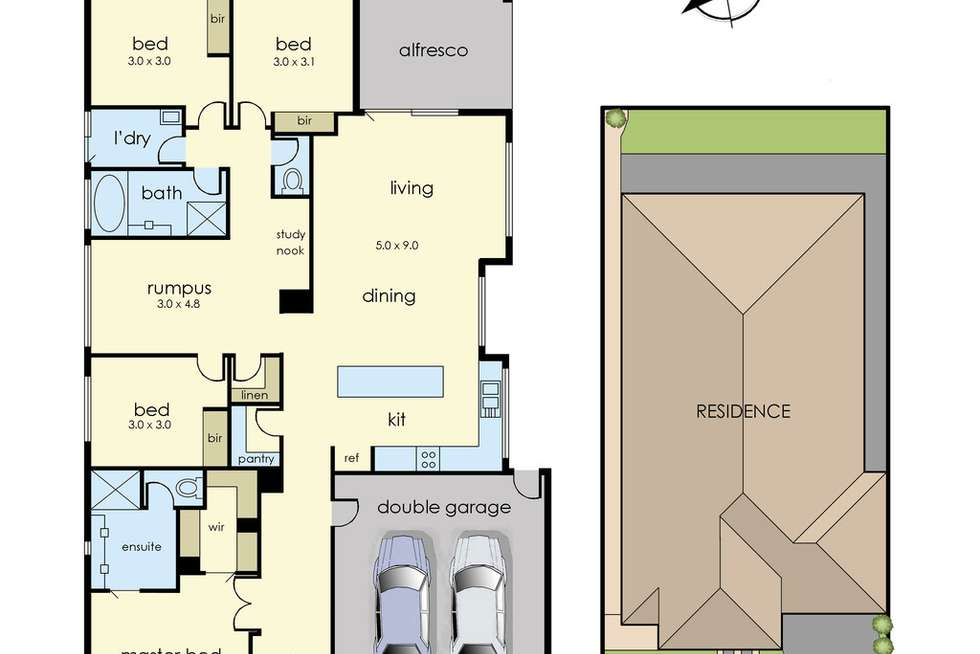 Floorplan of Homely house listing, 13 Gumview Road, Lyndhurst VIC 3975