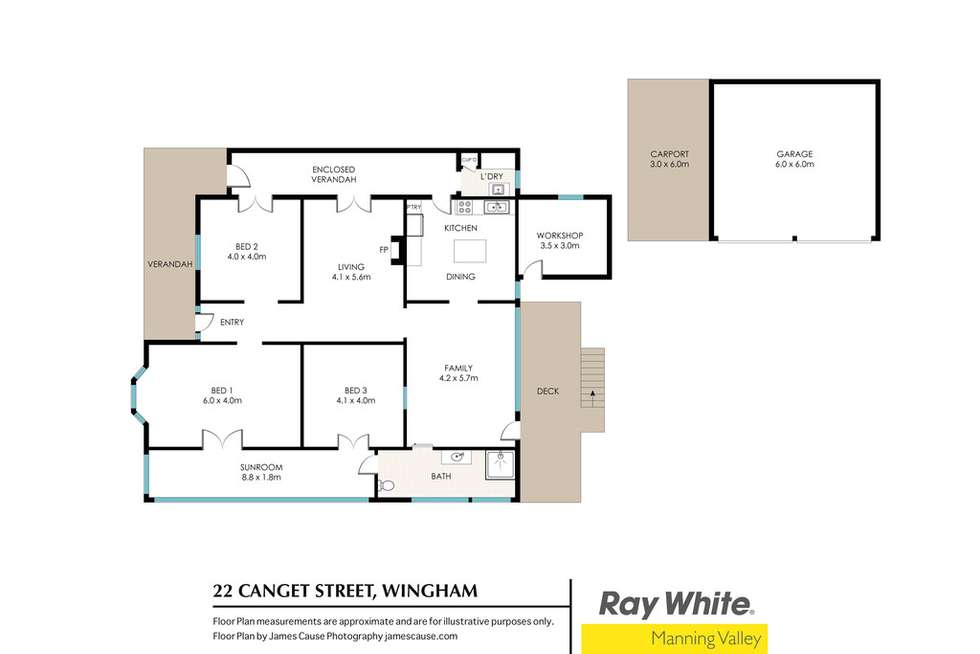 Floorplan of Homely house listing, 22 Canget Street, Wingham NSW 2429