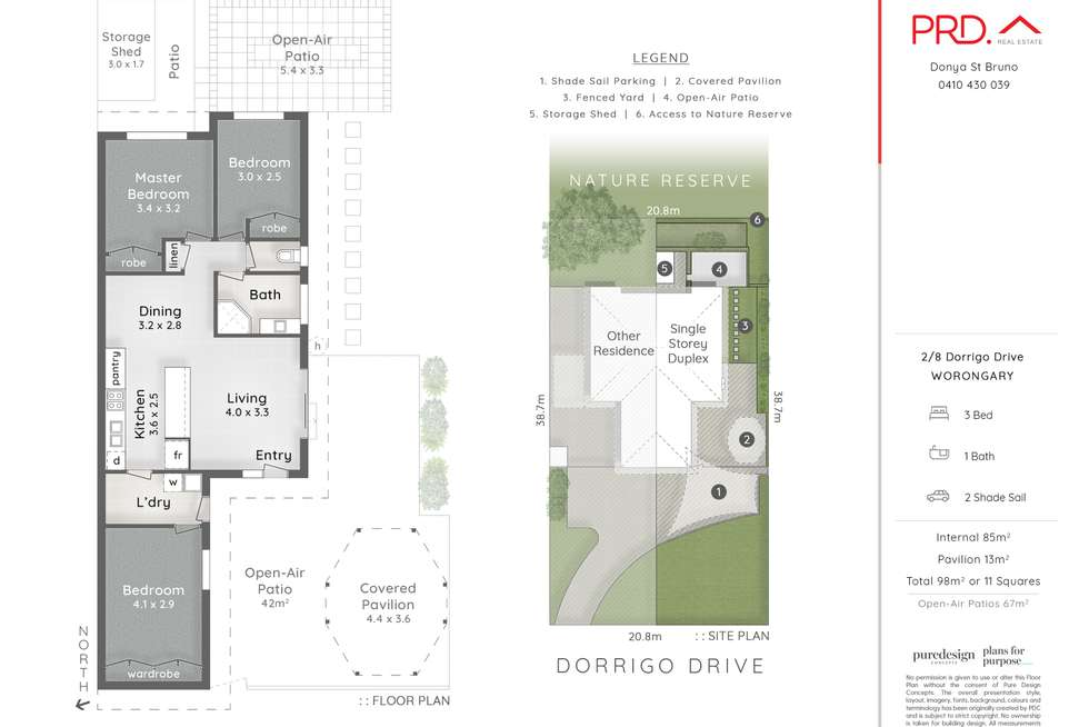 Floorplan of Homely house listing, 2/8 Dorrigo Drive, Worongary QLD 4213
