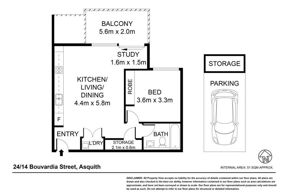Floorplan of Homely apartment listing, 24/14 Bouvardia Street, Asquith NSW 2077