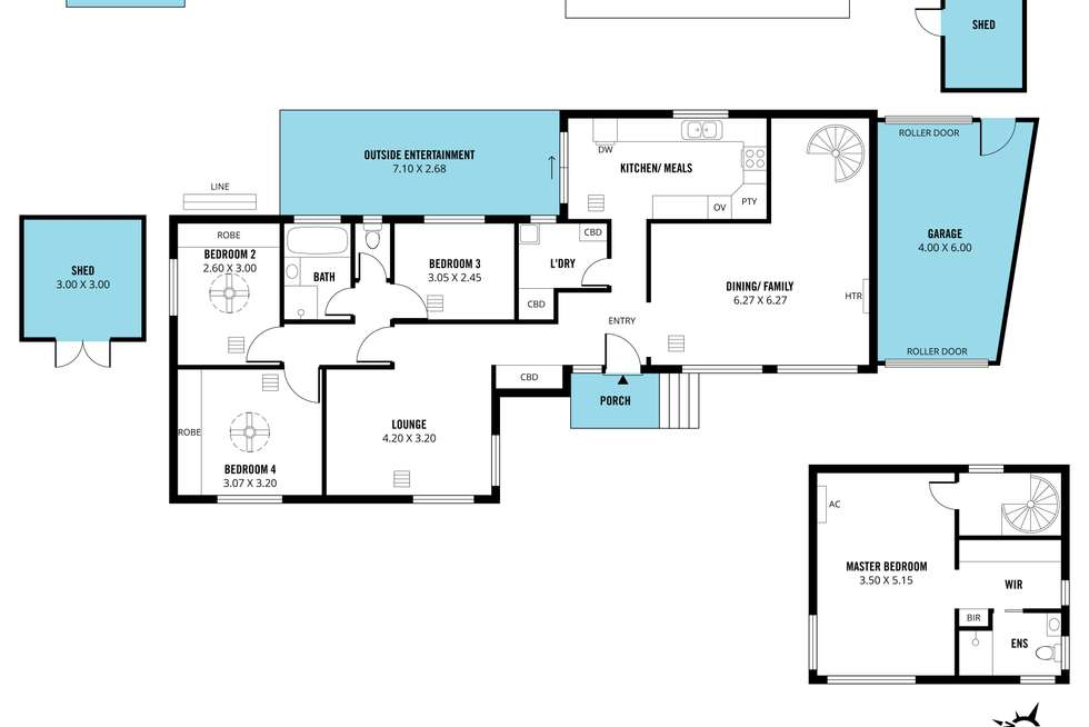 Floorplan of Homely house listing, 3 Binara Court, Seaview Downs SA 5049