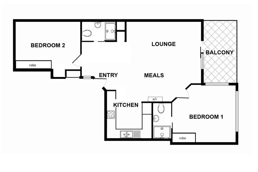 Floorplan of Homely apartment listing, 137/65 King William Street, Adelaide SA 5000