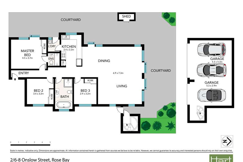 Floorplan of Homely apartment listing, 2/6-8 Onslow Street, Rose Bay NSW 2029