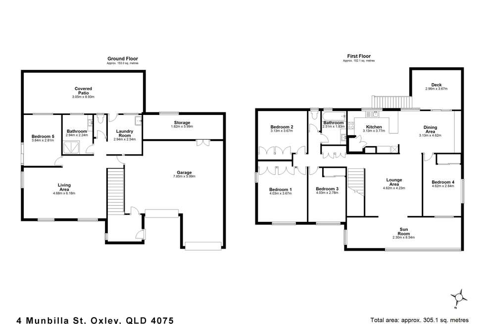 Floorplan of Homely house listing, 4 Munbilla Street, Oxley QLD 4075