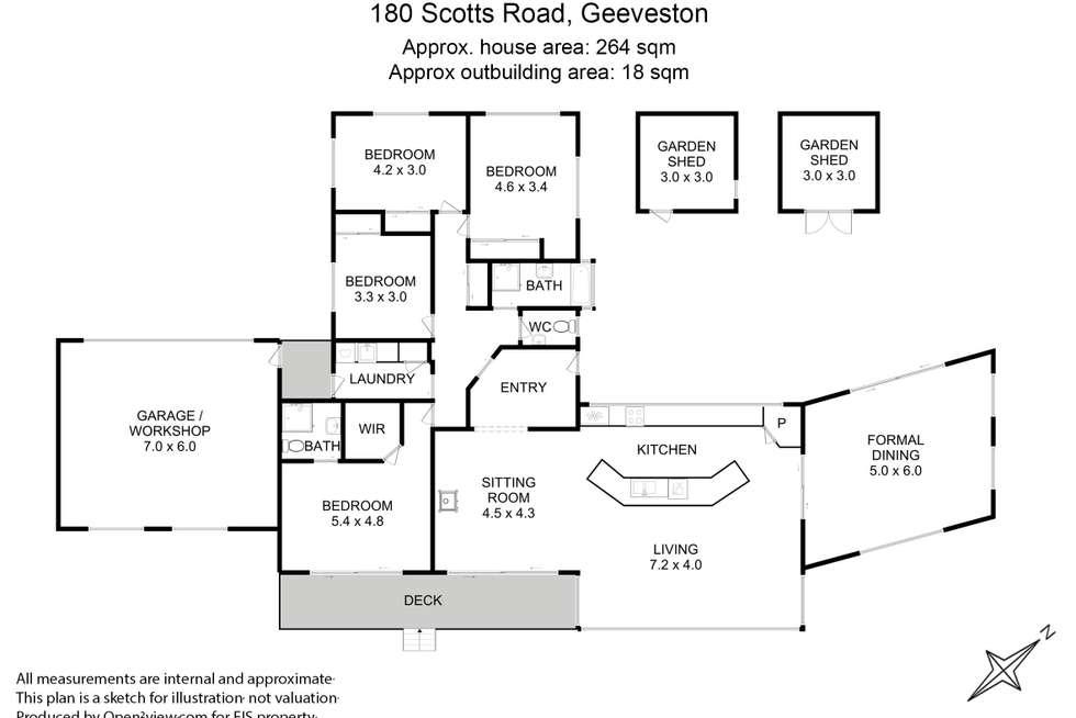 Floorplan of Homely house listing, 180 Scotts Road, Geeveston TAS 7116