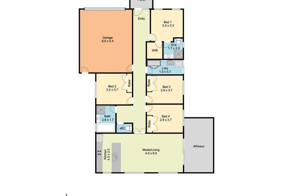 Floorplan of Homely house listing, 9 McAuliffe Street, Wodonga VIC 3690