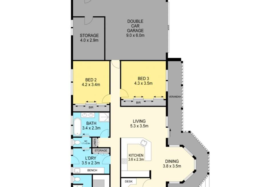 Floorplan of Homely house listing, 605 Learmonth, Buninyong VIC 3357
