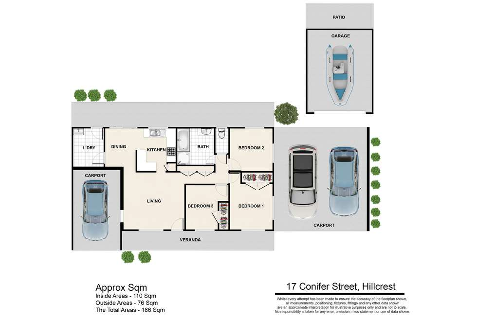 Floorplan of Homely house listing, 17 Conifer Street, Hillcrest QLD 4118