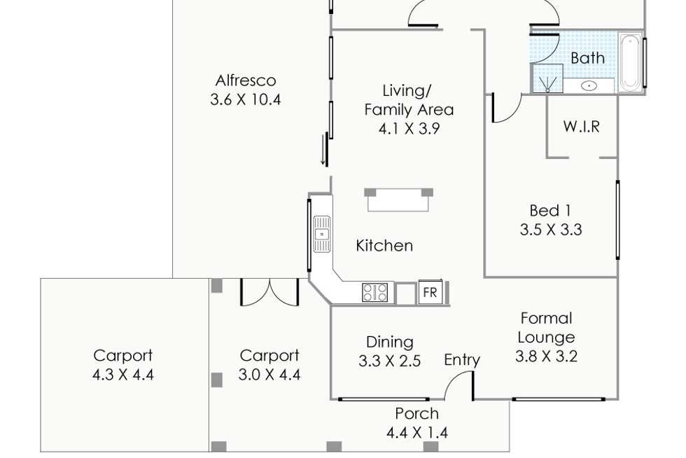 Floorplan of Homely house listing, 8 Elder Way, Bellevue WA 6056