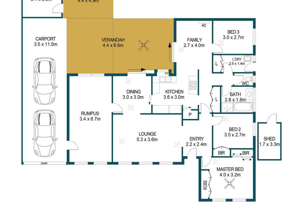 Floorplan of Homely house listing, 8 Wynn Vale Drive, Gulfview Heights SA 5096