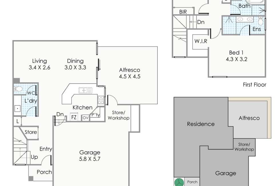 Floorplan of Homely townhouse listing, 171A Walcott Street, Mount Lawley WA 6050