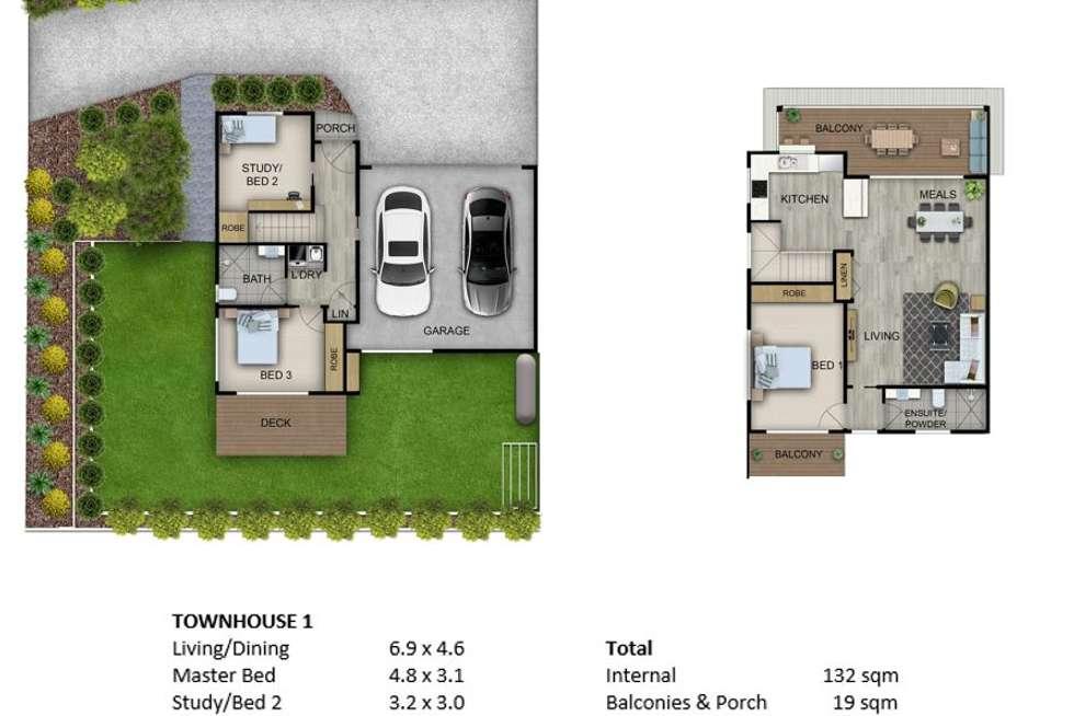 Floorplan of Homely townhouse listing, 13 Warrigal Street, Blackwall NSW 2256