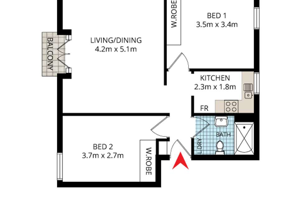 Floorplan of Homely apartment listing, 43/16 Kings Cross Road, Potts Point NSW 2011