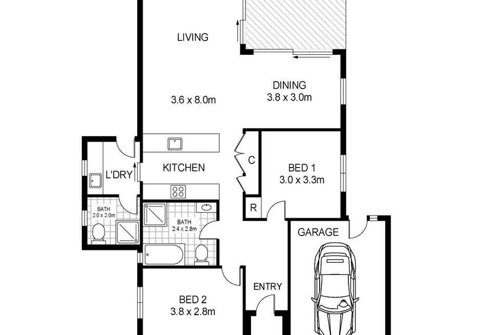 Floorplan of Homely house listing, 4 Reardon Street, Port Fairy VIC 3284