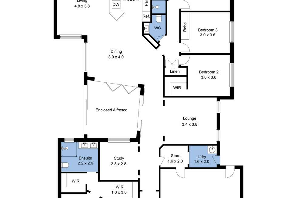 Floorplan of Homely house listing, 26 Trinity Point Drive, Morisset Park NSW 2264