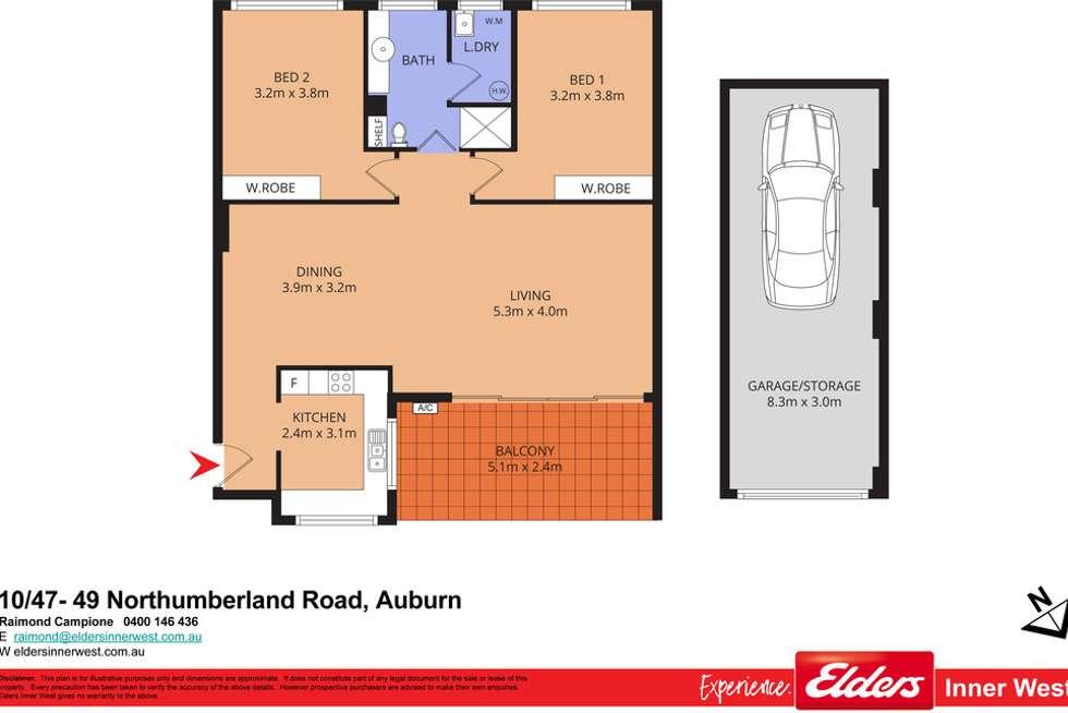 Floorplan of Homely unit listing, 10/47-49 Northumberland Road, Auburn NSW 2144