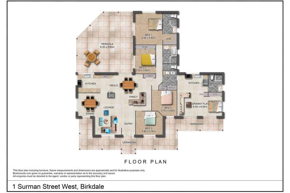 Floorplan of Homely house listing, 1 Surman Street West, Birkdale QLD 4159
