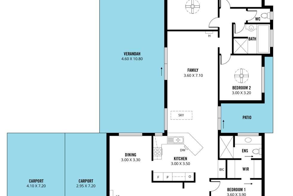 Floorplan of Homely house listing, 4 Windsor Court, Morphett Vale SA 5162