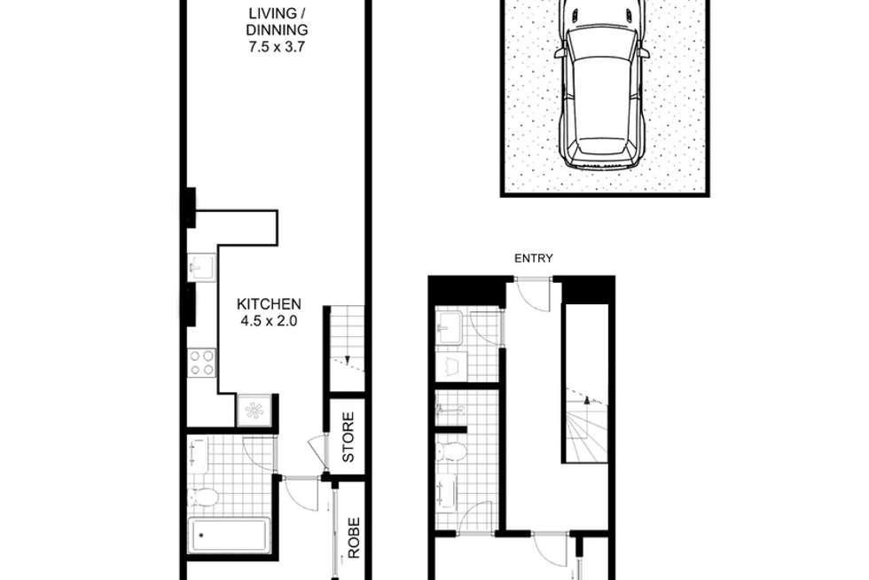 Floorplan of Homely apartment listing, 705/17 Gadigal Avenue, Zetland NSW 2017