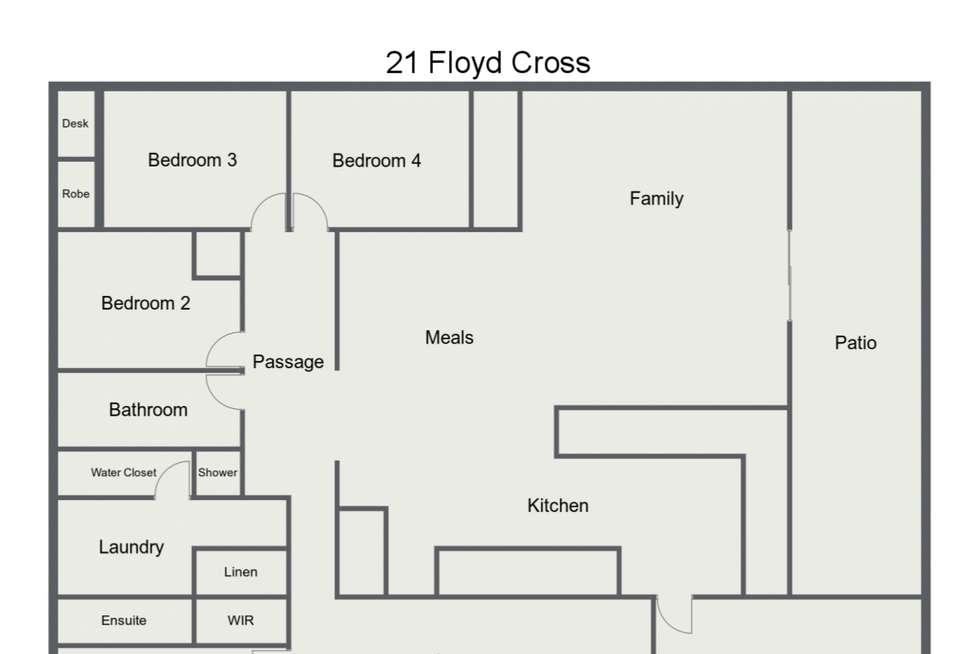 Floorplan of Homely house listing, 21 Floyd Cross, Usher WA 6230