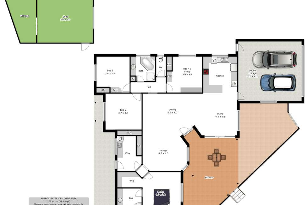Floorplan of Homely house listing, 3 Lyons Place, Wodonga VIC 3690