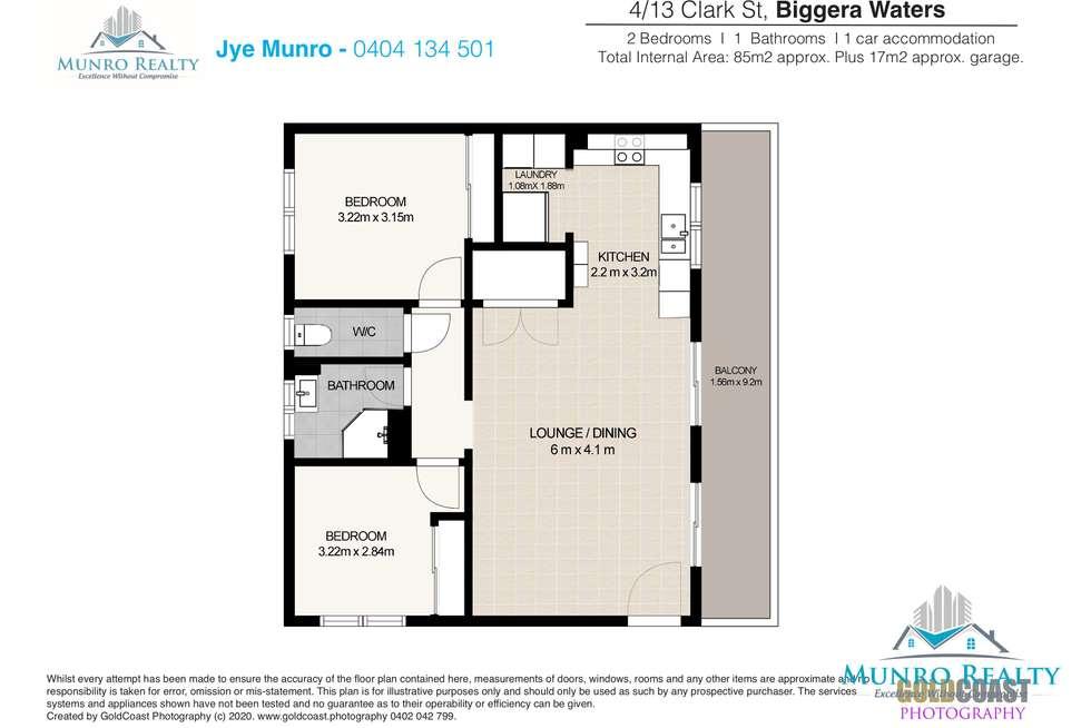 Floorplan of Homely unit listing, 4/13 Clark Street, Biggera Waters QLD 4216