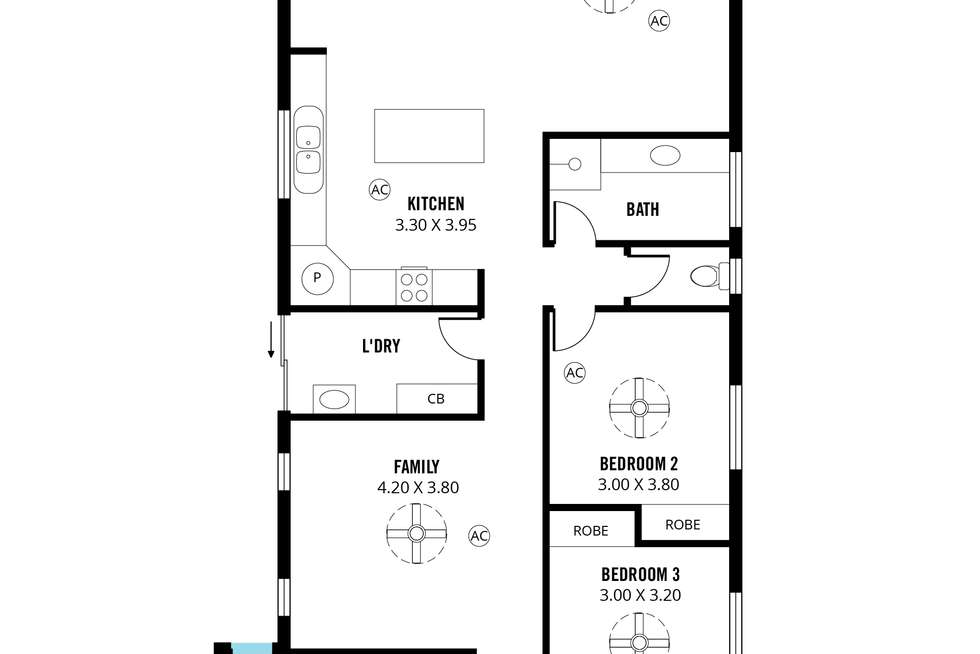 Floorplan of Homely house listing, 26a Freeman Avenue, Morphett Vale SA 5162