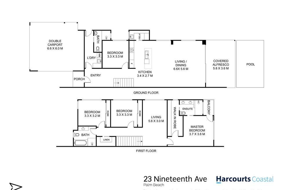 Floorplan of Homely semiDetached listing, 23 Nineteenth Avenue, Palm Beach QLD 4221