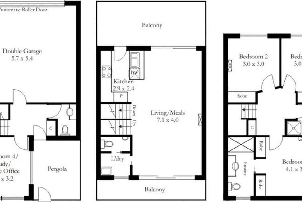 Floorplan of Homely house listing, 2/1 Saint Kitts Place, Mawson Lakes SA 5095