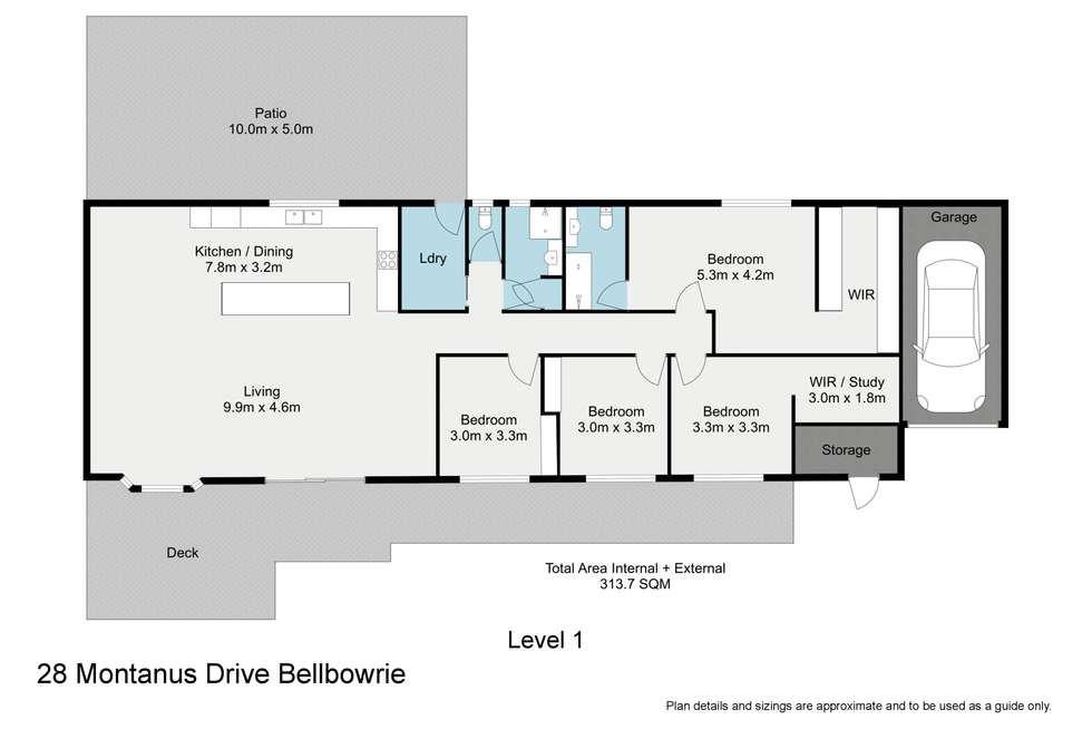 Floorplan of Homely house listing, 28 Montanus Drive, Bellbowrie QLD 4070