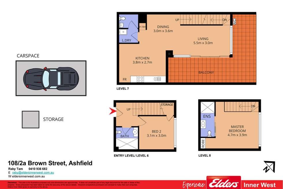 Floorplan of Homely apartment listing, 108/2a Brown Street, Ashfield NSW 2131
