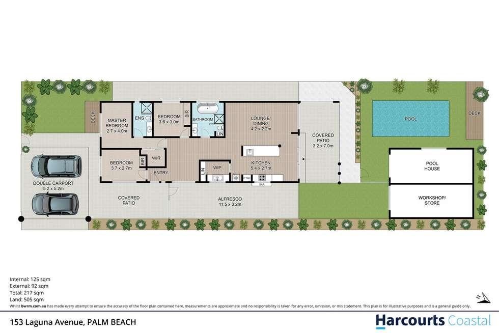 Floorplan of Homely house listing, 153 Laguna Avenue, Palm Beach QLD 4221
