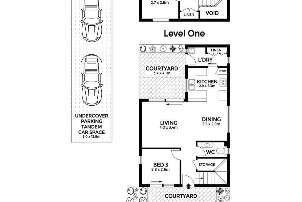 Floorplan of Homely townhouse listing, 1/39-41 Macauley Street, Leichhardt NSW 2040