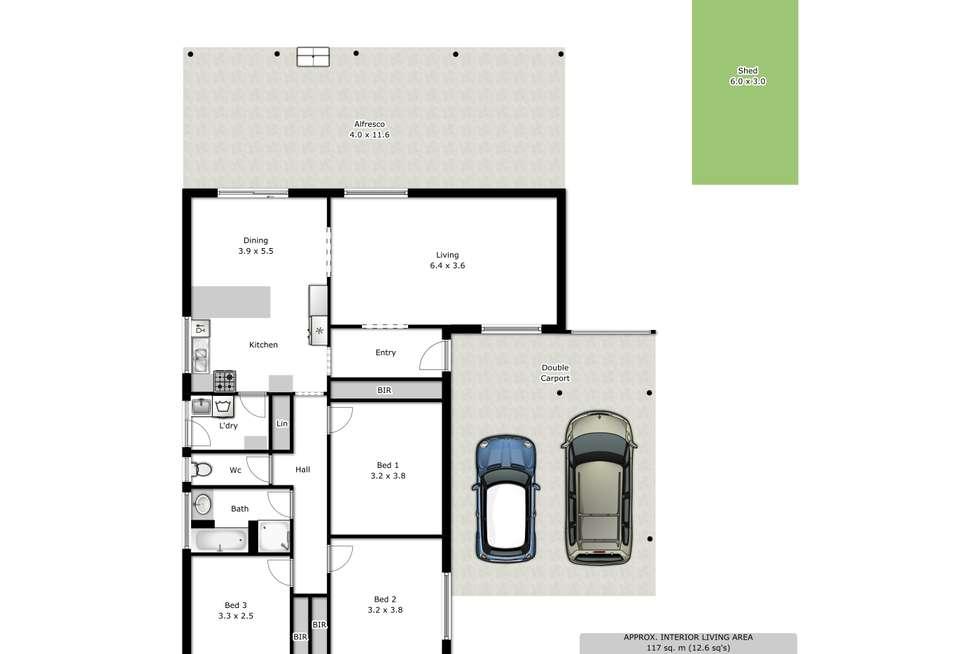 Floorplan of Homely house listing, 14 Lynch Court, Wodonga VIC 3690