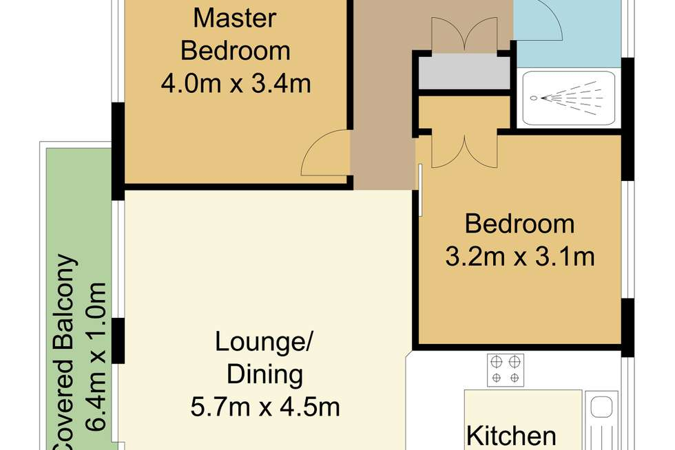 Floorplan of Homely unit listing, 10/5 Rose Street, Southport QLD 4215