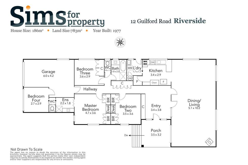 Floorplan of Homely house listing, 12 Guilford Road, Riverside TAS 7250