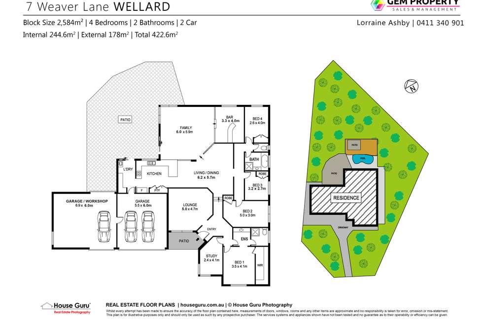 Floorplan of Homely house listing, 7 Weaver Lane, Wellard WA 6170