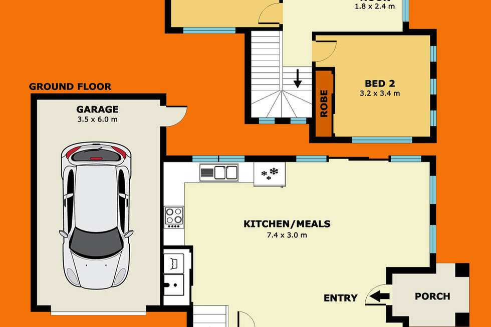 Floorplan of Homely townhouse listing, 1/48 Ulm Street, Laverton VIC 3028