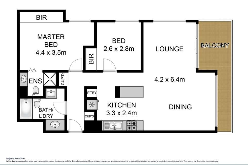 Floorplan of Homely apartment listing, 6E/52 Goodwin Terrace, Burleigh Heads QLD 4220