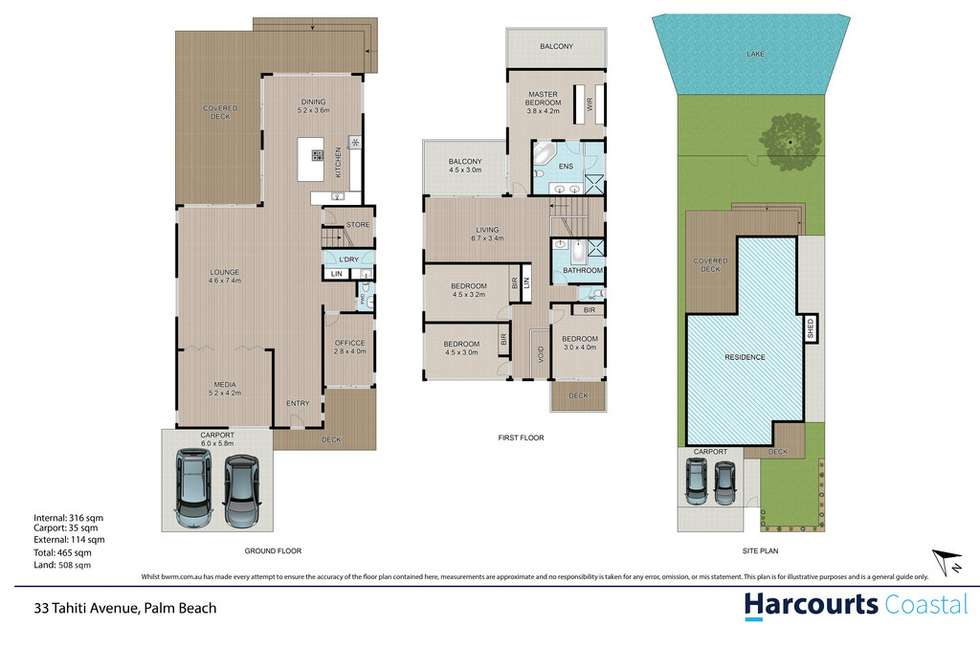 Floorplan of Homely house listing, 33 Tahiti Avenue, Palm Beach QLD 4221