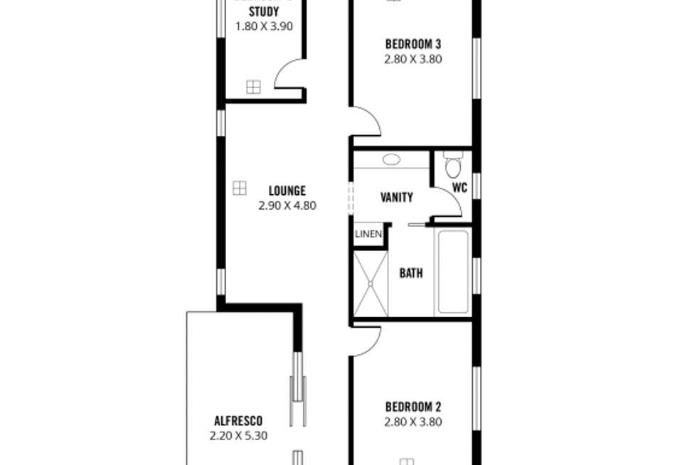 Floorplan of Homely house listing, 3 Pitman Avenue, Woodville West SA 5011