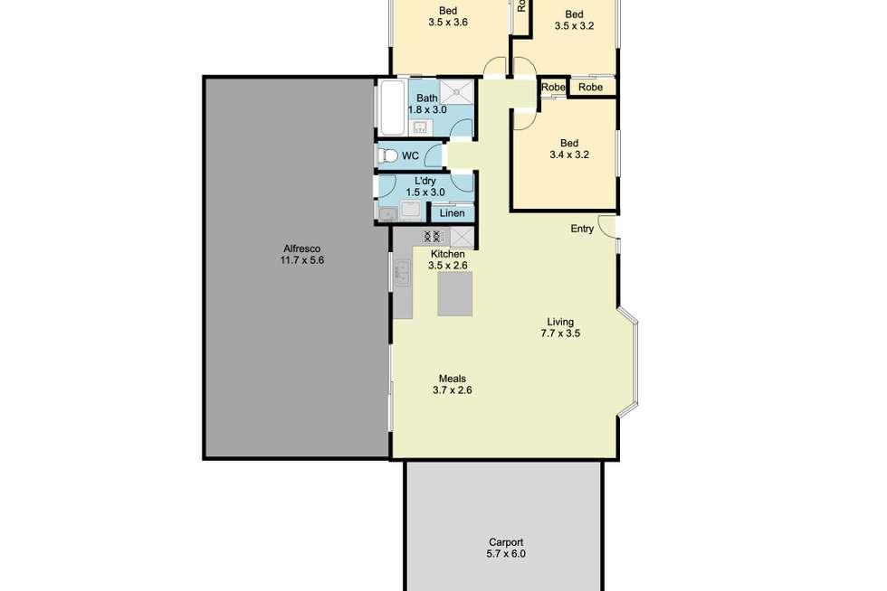 Floorplan of Homely house listing, 12 Prosper Court, Wodonga VIC 3690