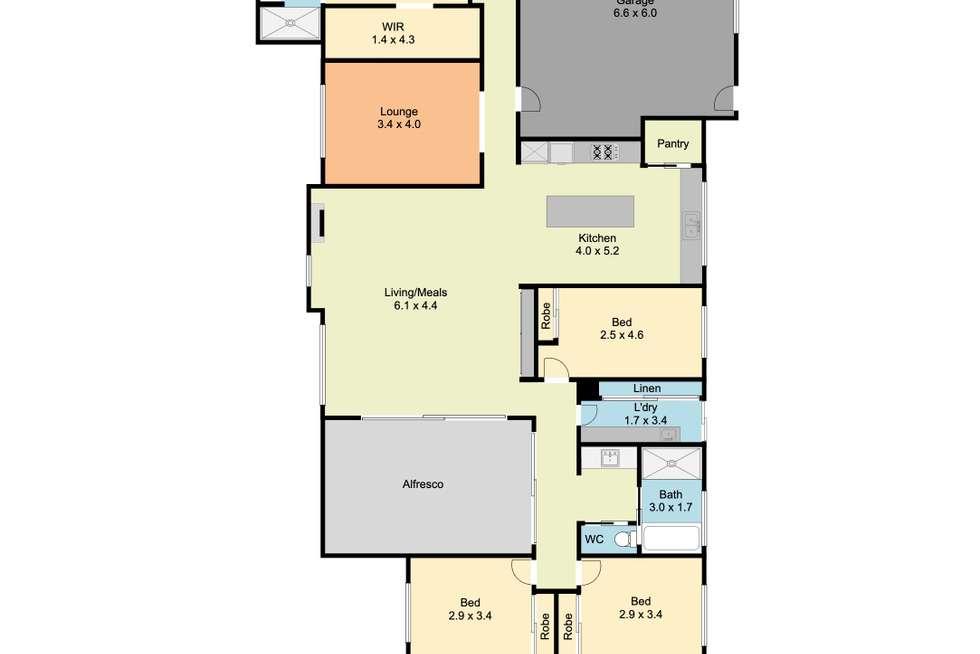 Floorplan of Homely house listing, 13 Hearst Court, Wodonga VIC 3690