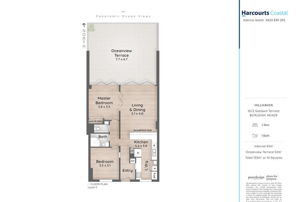 Floorplan of Homely apartment listing, 10/2 Goodwin Terrace, Burleigh Heads QLD 4220