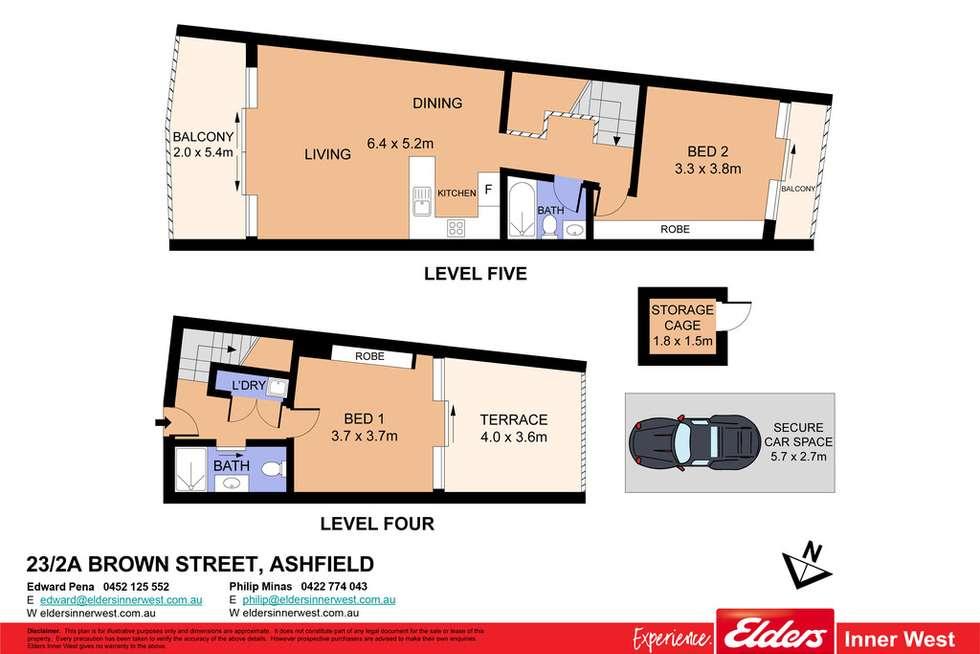 Floorplan of Homely unit listing, 23/2a Brown Street, Ashfield NSW 2131