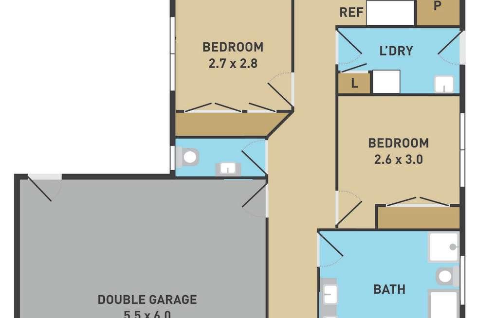 Floorplan of Homely house listing, 24 Hascombe Drive, Caroline Springs VIC 3023