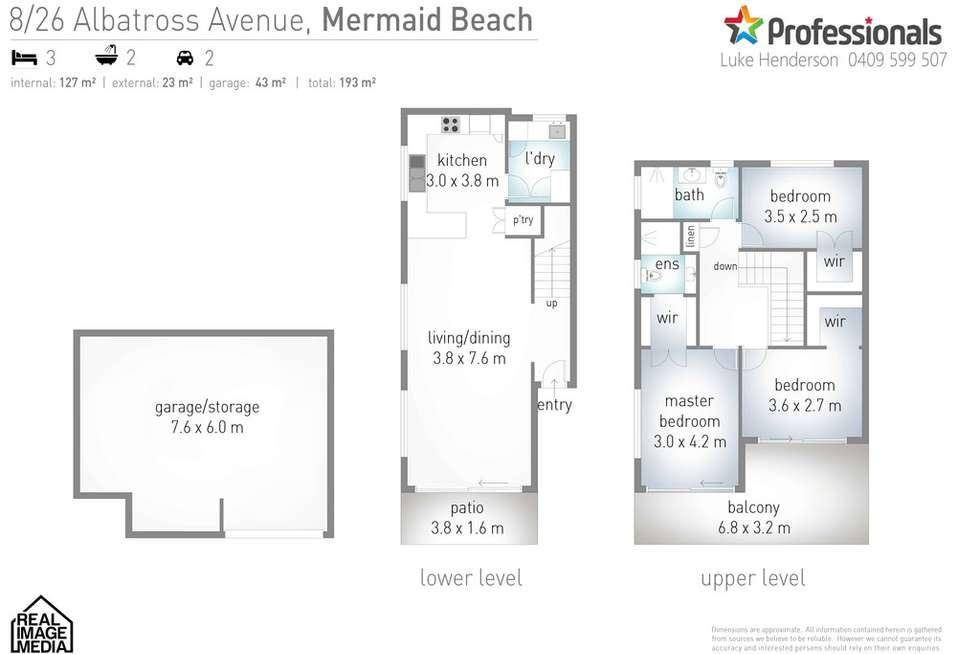 Floorplan of Homely unit listing, 8/26 Albatross Avenue, Mermaid Beach QLD 4218