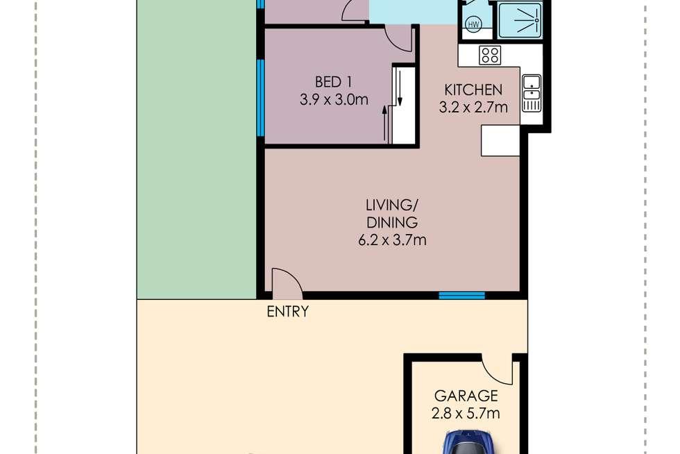 Floorplan of Homely unit listing, 1/7 Warburton Street, North Ward QLD 4810