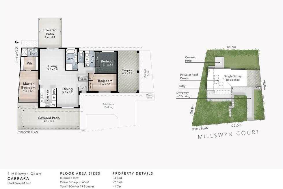 Floorplan of Homely house listing, 4 Millswyn Court, Carrara QLD 4211